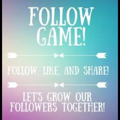 My first FOLLOW GAME!   Lets help each other get more followers! Like, follow and share and get more postmark friends!!  Other