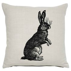 Rabbit/Hare Sketch Cushion - 43x43cm | Cushions | ASDA direct
