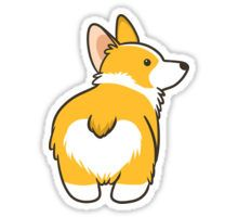 HEART CORGI BUTT Sticker
