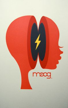 First of all: Amazing Moog poster. Second: a great example of a company using their trademark font/name with any picture they feel like.