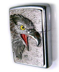 Zippo-Beautiful-AMERICAN-EAGLE-SUPER-3D-Massive-Plate-Special-Edition-RARE