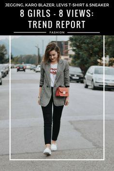 Trend Report: Karo - Jegging, Karo Blazer, Levis T-Shirt & Sneaker kombinieren - Blogparade 8 Girls - 8 Views kombinieren, Look, Outfit, Fashion Blog, Modeblog, Outfit Blog, Streetstyle, Outfit Blog, Modeblog, Fashion Blog, Fashion Blogger