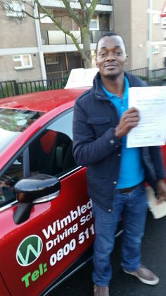 Well done to Patrick Nvulle from #Streatham who passed his test in #Mitcham.