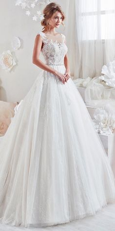 Beautiful And Romantic Nicole Spose Wedding Dresses 2018 ❤️ aline with scoop and embroidered lace and bel nicole spose wedding dresses Full gallery: https://weddingdressesguide.com/nicole-spose-wedding-dresses/