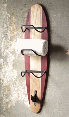 Surfboard Towel Rack