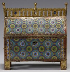 Reliquary Chasse with the Holy Women at the Tomb. Culture: French (Limoges). ca. 1200–1210, Copper gilt over wood, enamel (champlevé), glass Walters Art Museum. ToH 183X