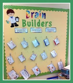 Brain Builders for GT and early finishers.  The reward for finishing is brain beads. I just wish it had a couple of examples of the activities.