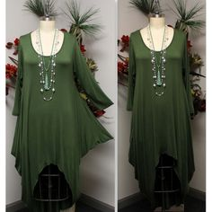 Plus Size Dress,Designer Dress,Lagenlook Dress, Hi Low Dress, Maxi... ($35) ❤ liked on Polyvore featuring dresses, maxi dresses, green maxi dress, plus size hi low dresses, hi low dress and plus size maxi dresses