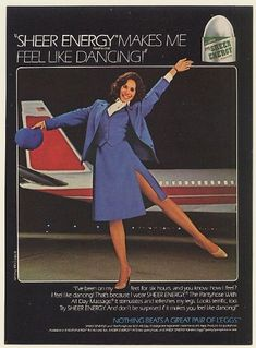 sheer energy pantyhose ads | 1982 L'Eggs Sheer Energy Pantyhose Airline Stewardess Photo Print Ad ...
