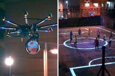 Drone Football | Pepsi Max | Genius. Video campaña: http://www.efectimedios.com/htm/contenido.php/categoria/BLOG/bid/364 Pepsi Max sorprenden con un increíble campo de fútbol interactivo.