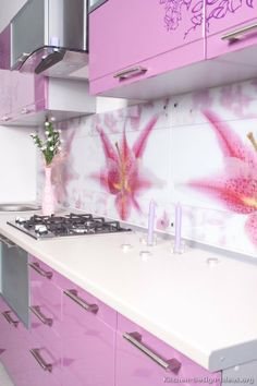 25 Best Pink Kitchens Images On Pinterest Kitchen Colors Modern