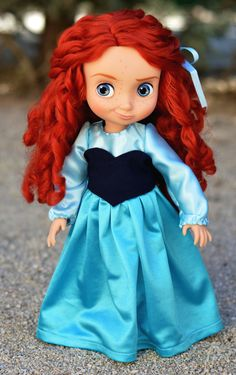 "The Little Mermaid's ""Kiss the Girl"" Dress for Disney Animator doll 16 inch doll de LittleBigBoutique en Etsy Disney Animator Doll, Disney Dolls, Disney Animators Collection Dolls, Ariel Cosplay, Ariel Dress, Mermaid Kisses, Reno, Merida, The Little Mermaid"