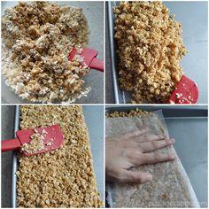 Barritas de granola caseras (sin prender el horno, sin gluten y fáciles) | http://www.pizcadesabor.com/2013/08/12/barritas-de-granola-caseras-sin-prender-el-horno-sin-gluten-y-faciles/