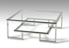 Modrest Topaz Modern Glass Coffee Table - Coffee Tables - Living Room