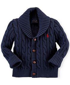 Ralph Lauren Baby Boys' Shawl-Collar Cardigan - Kids Ralph Lauren Baby Gifts - Macy's