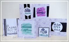 MWH: Create Kindness Special -- using extra Black & White Cardstock, markers & watercolors