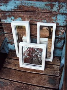 Vintage Shabby Chic Mirror Set Collage by primitivepincushion