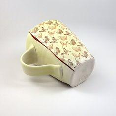 Squared porcelain mug with creamy lemon yellow by emilymurphy