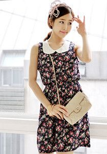 SALE: Pearl Laced Chiffon Dress @ $59 SGD only! (Available in: Beige, Navy)