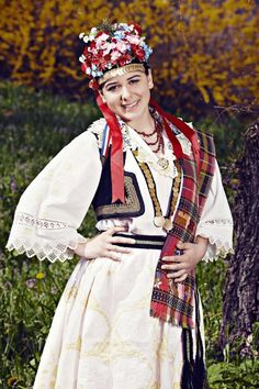 Europe   Portrait of a woman wearing traditional clothes and headdress, Bosnia and Herzegovina #flowercrown