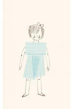 Sweet washi tape illustration, ' MT girl ' by illustrator Denise Holmes . Doodle Drawings, Doodle Art, Girl Drawings, Little Girl Drawing, Washi Tape Crafts, Washi Tapes, Masking Tape, Mt Tape, Decorative Tape