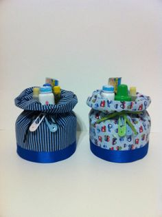 Luv My Boy Drawstring Johnson Purse Diaper Cake