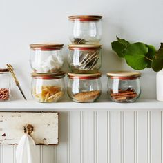 Weck Tulip Jars (Set of 6) - Great for storing things to help keep your kitchen tidy