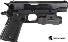 16e4b12e09 ReCover Tactical Grip and Rail System with Changeable Panels for the 1911  (Black with Black   Grey Panels)