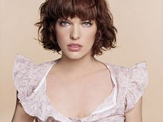 Milla Jovovich Short Haircut With Bangs For Curly Hair In Casual Best Celebrity Hairstyles Stock Photos HD Popular Short Hairstyles, 2015 Hairstyles, Cute Hairstyles For Short Hair, Classic Hairstyles, Short Haircut Styles, Cute Short Haircuts, Short Thin Hair, Short Hair Cuts For Women, Curly Short