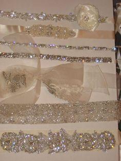 Sparkle & Glitter Wedding Gown Belts