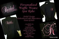 Monogrammed Waffle Weave Bride and Bridal Party  by DesignsbyDaffy, $45.00