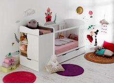 Lit Combiné Bébé Enfant Blanc avec Tiroir BELEM - 😍Découvrir ici : #3Suisses #Litenfant #chambreenfant #Litbebe #commode #meubles #chambreenfants #meublesenfants