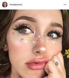 Makeup looks for brown eyes people 64 Ideas for 2019 Makeup Goals, Makeup Inspo, Makeup Art, Makeup Inspiration, Beauty Makeup, Hair Makeup, Creative Makeup Looks, Unique Makeup, Cute Makeup