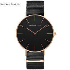 Ultra Thin Simple Black Fashion Casual Mens Top Brand Classic Luxury Women Quartz Sport Leather Nylon Watches Relogio Masculino