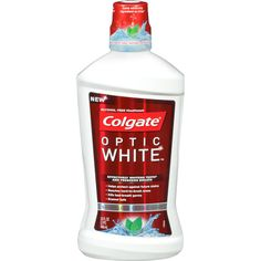colgate optic white Im not a fan of mouth washes, but this one is good. There is no alcohol in it so it doesn't burn or sting but definitely leaves your mouth clean and fresh