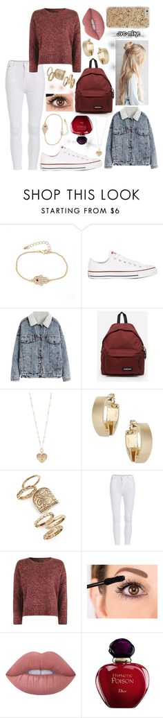 """""""10.02.2017"""" by jvc-nike ❤ liked on Polyvore featuring Converse, Eastpak, Betsey Johnson, Topshop, Lime Crime, Christian Dior and Case-Mate"""