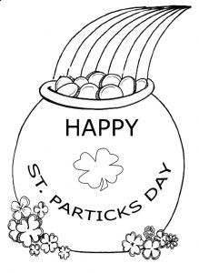 St Patricks Day Coloring Pages For Preschooler