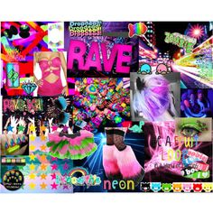 Neon Rave Party, created by dardarhehe on Polyvore