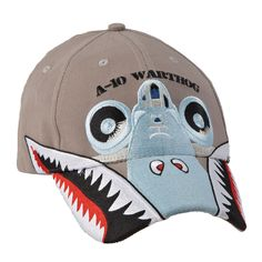 "Our A-10 Warthog Cap is a must have for fans of military aviation. The Cap features the A-10 ""shark teeth"" nose art stitched along the visor and the front view of an A-10 embroidered across the front. On the back, ""Brrrrt"", the sound commonly associated w"