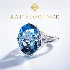 "2,211 Likes, 6 Comments - KAT FLORENCE (@katflorence) on Instagram: ""Reflecting natures enigmatic spectrum, the Santa Maria Aquamarine holds within it the bluest blues…"""