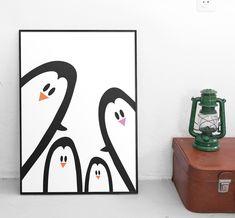 Penguin family poster by Martina Galjan Matkovic
