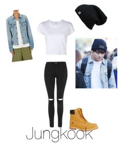 """Jungkook"" by bts-polyvore on Polyvore featuring RE/DONE, Icons, Topshop and Timberland"