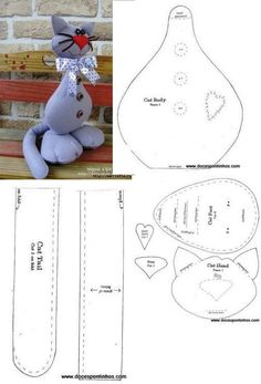 Please visit our website for Diy Crafts New, Cat Crafts, Sewing Stuffed Animals, Stuffed Animal Patterns, Sewing Patterns Free, Doll Patterns, Sewing Toys, Sewing Crafts, Halloween Sewing