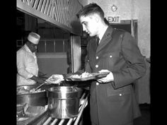 ELVIS PRESLEY  - Army chow  (Photos credit by AP Photo)
