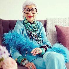 Oh, how I'd love to peek inside her jewelry box just once. Iris Apfel, we share a love of turquoise!