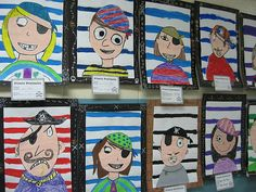Pirate Portraits | Done by the 4th graders..lesson I borrowe… | Flickr