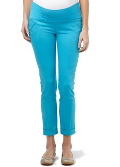 The Manhattan is the perfect maternity pant in fun colors!