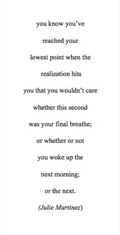 Sometimes I don't care.
