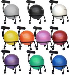 Isokinetics Adjustable Fitness Ball Chair    <:>  @kimludcom