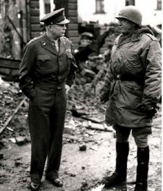 Eisenhower and Patton in Bastogne
